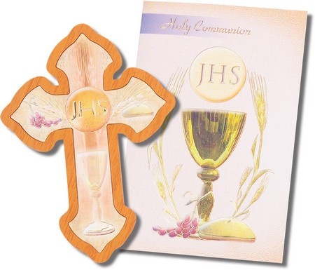 Eucharist Cross With Tri-Fold Booklet