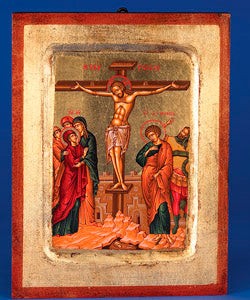 The Crucifixion of Christ 12-inch x 9-1/2-inch x 1-inch Hand Painted