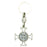 Saint Benedict Enamel Key Ring - White