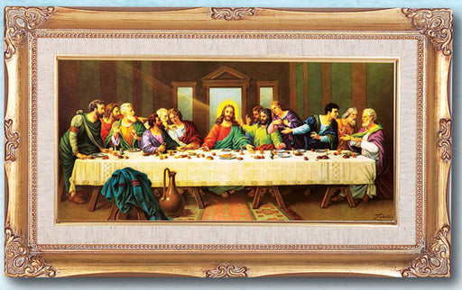 Last Supper By Zabateri 14X24 Goldleaf Wood Frame
