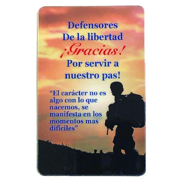 Spanish Laminated Prayer Card - Defensores