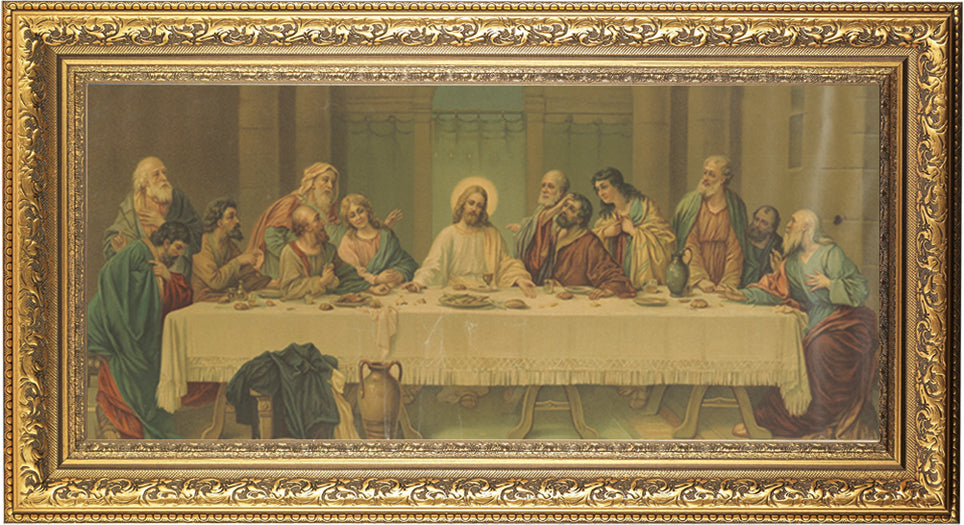 Last Supper Parietti 11X18 Goldleaf Wood Frame