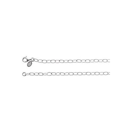 18-inch Knurled Cable Necklace - Sterling Silver
