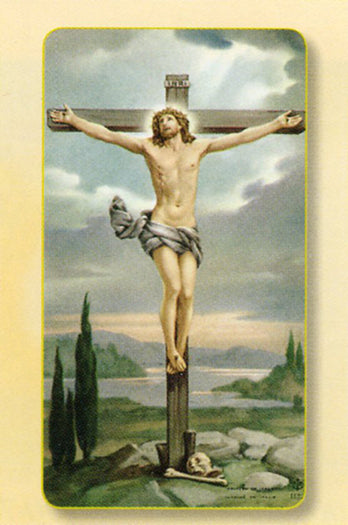 Crucifixion Holy Card - 100-Pack