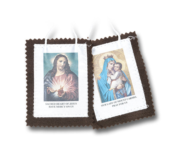 2-inch Brown Scapular 10-Pack