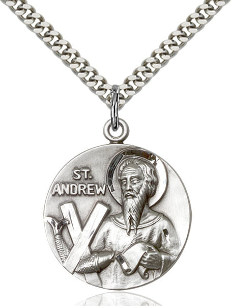 Sterling Silver Saint Andrew Necklace Set