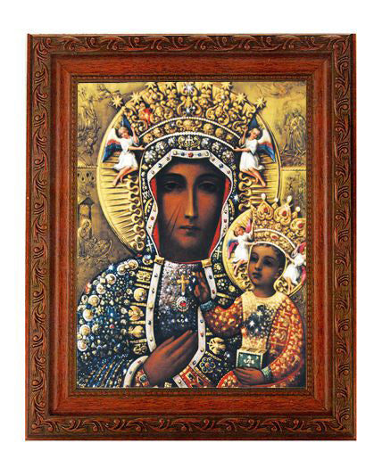 Our Lady Of Czestochowa In Ornate Wood Frame 10X12-inch 8X10 Print