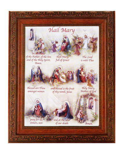 The Hail Mary In Ornate Wood Frame 10X12-inch 8X10 Print