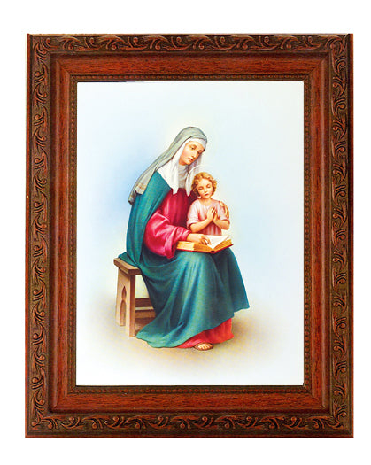 Saint Anne In Ornate Wood Frame 10X12-inch 8X10 Print