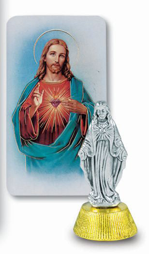 Sacred Heart Of Jesus Auto Statue With Prayer Card