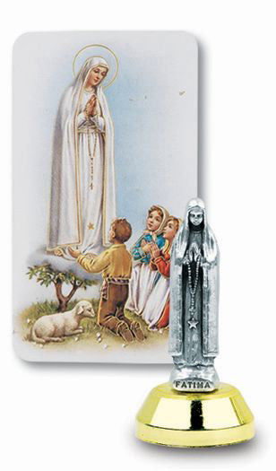Our Lady Of Fatima Auto Statue With Prayer Card