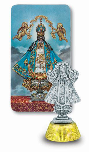 Virgin De San Juan Auto Statue With Prayer Card
