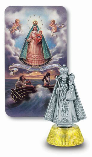 Caridad Del Cobre Auto Statue With Prayer Card