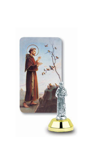 St Francis Auto Statue With Prayer Card