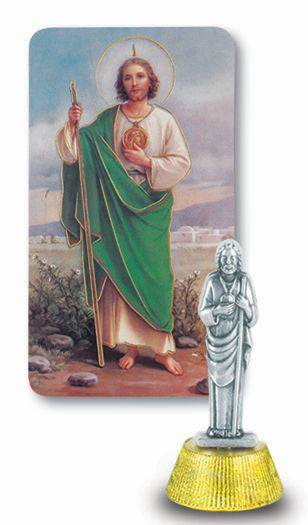 St Jude Auto Statue With Prayer Card