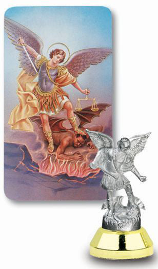 St Michael Auto Statue With Prayer Card