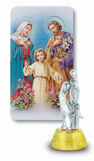 Holy Family Auto Statue With Prayer Card