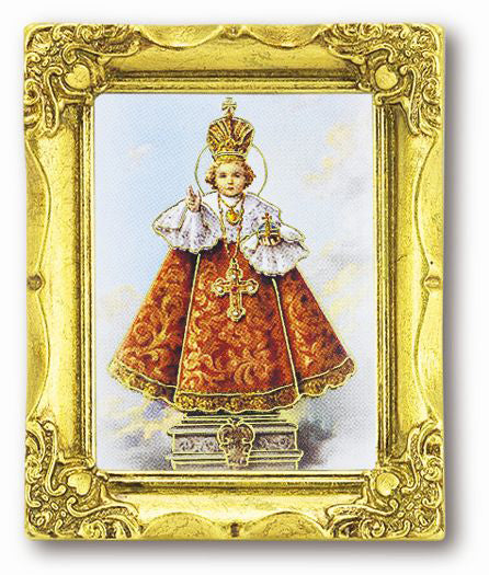 Iop 3-inchX2-inch Antique Gold Frame with Gold Stmpd Italian Art