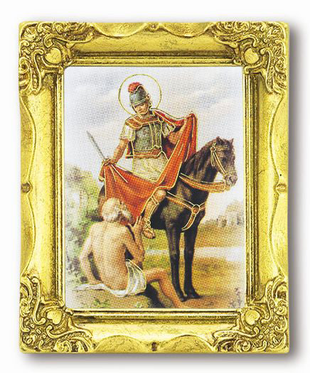 Saint Martin Tours 3-inchX2-inch Gold Frame with Gold Stmpd Italian Art