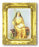 Saint Monica 3-inchX2-inch Antique Gold Frame with Gold Stmpd Italian Art