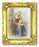 Saint Anne 3-inchX2-inch Antique Gold Frame with Gold Stmpd Italian Art
