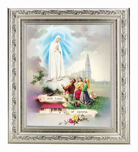 Our Lady Of Fatima In Ornate Silver Frame 10X12-inch 8X10 Print