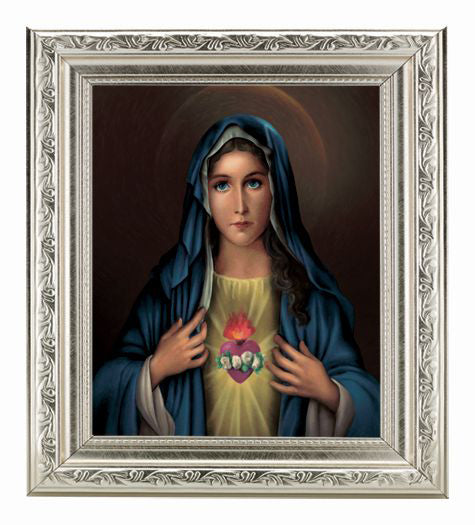 Immaculate Heart 8X10 In Ornate Silver Frame 10X12-inch