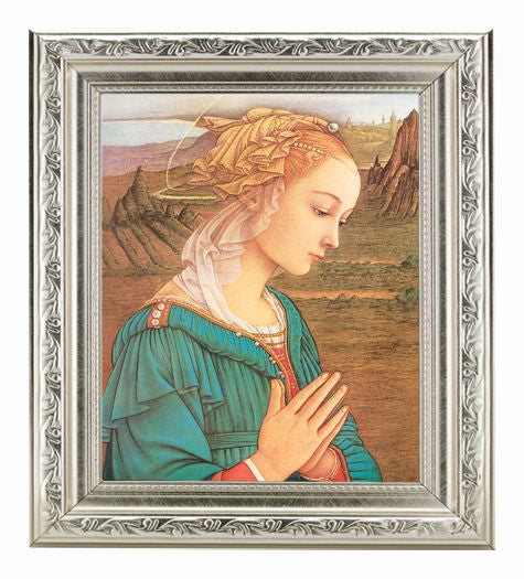 Lippi-Madonna and Child In Ornate Silver Frame 10X12-inch 8X10 Print