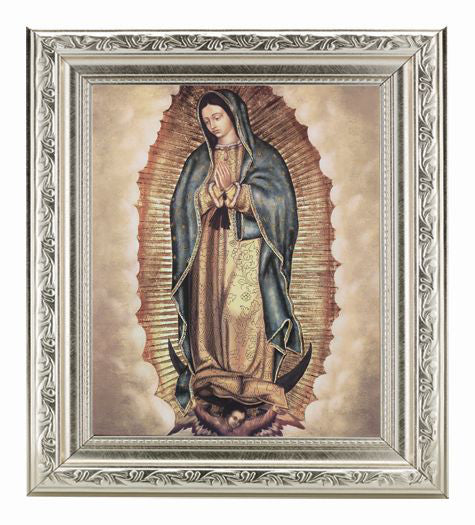 Our Lady Of Guadalupe In Ornate Silver Frame 10X12-inch 8X10 Print