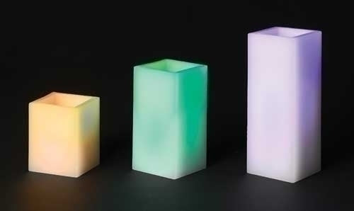 3Pc Saint 4-8-inch LED Square Pillar