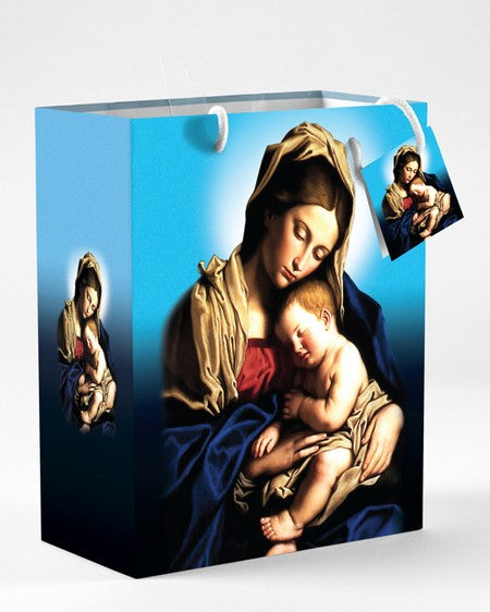 12-Pack - Small Mother and Child Gift Bag with Gift Tissue