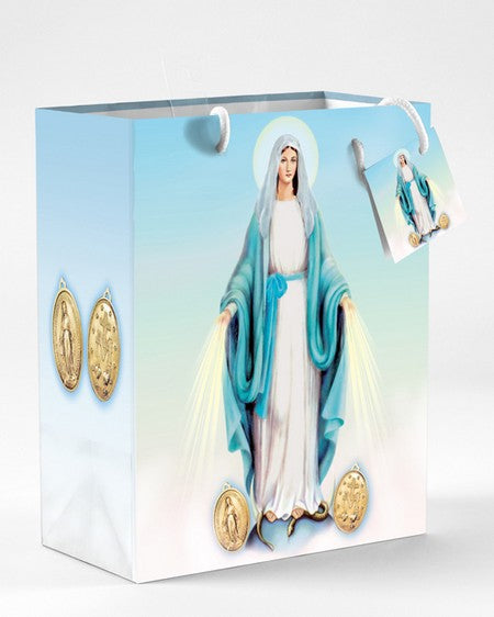 12-Pack - Small Miraculous Medal Gift Bag with Gift Tissue