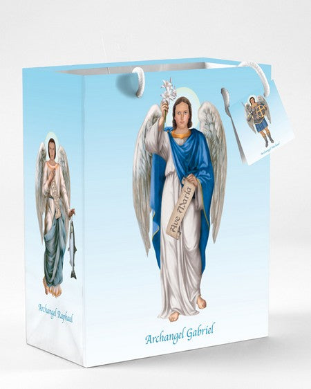 12-Pack - Small 4 Archangels Gift Bag with Gift Tissue
