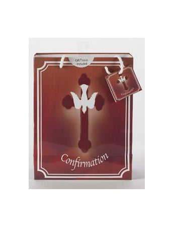 12-Pack - Large Confirmation Gift Bag with Gift Tissue