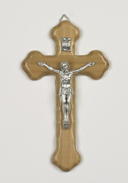 8 inch Olive Wood Crucifix Boxed