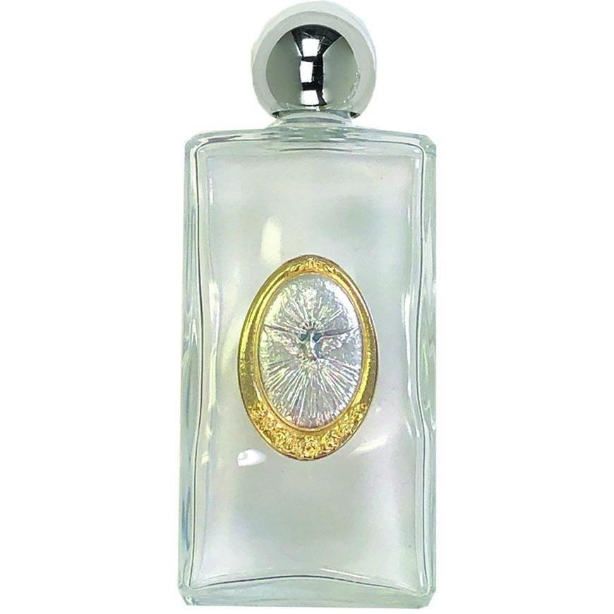Large Glass Holy Water Bottle - Holy Spirit