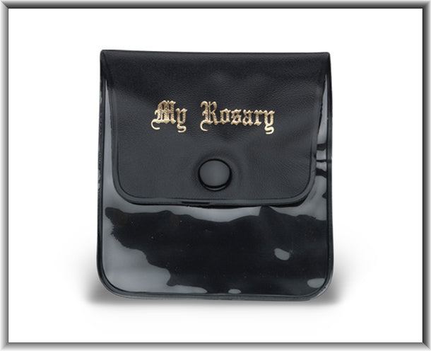 Black Ros. Case with My Rosary Gold Stamped 70Mmx75MM 10-Pack