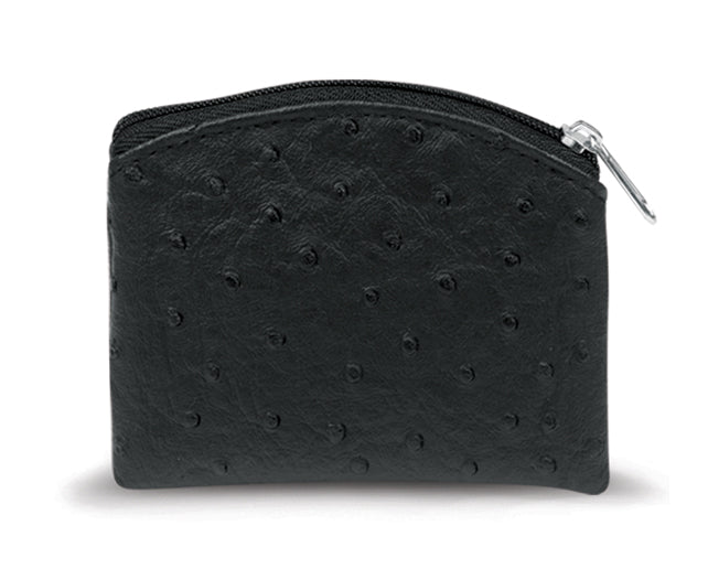 Black Ostrich Skin Pattern Case Anti-Tarnish Lined