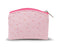 Pink Ostrich Skin Pattern Case Anti Tarnish Lined