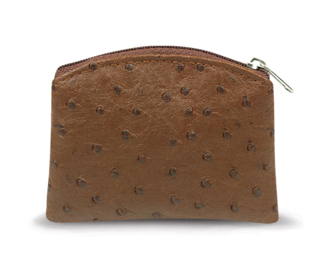 Brown Ostrich Skin Pattern Case Anti-Tarnish Lining