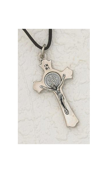 2-inch Saint Benedict Cross with Silver design