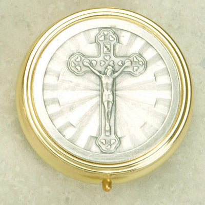 Silver and Gold Plated Pyx with Crucifix