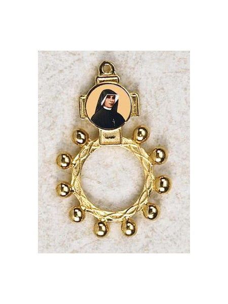 12-Pack - Saint Faustina Gold Finger Rosary
