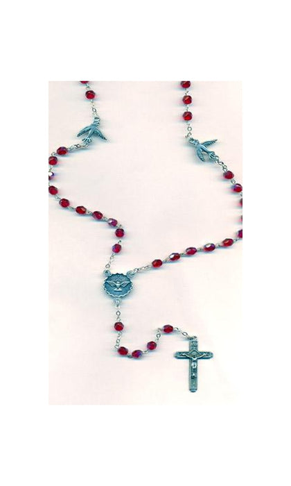 Red Holy Spirit Rosary with Holy Spirit 'Our Father' beads