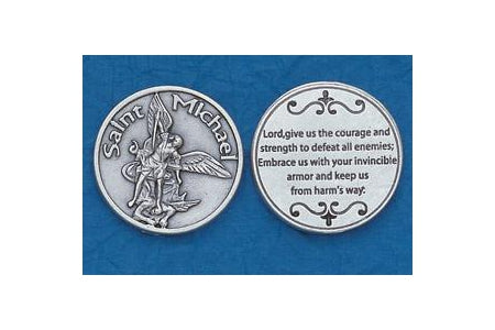25-Pack - Religious Coin Token - Saint Michael for Servicemen
