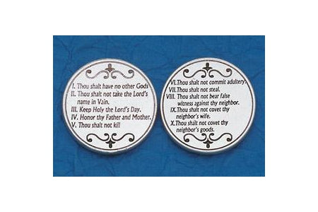 25-Pack - Religious Coin Token - The Ten Commandments