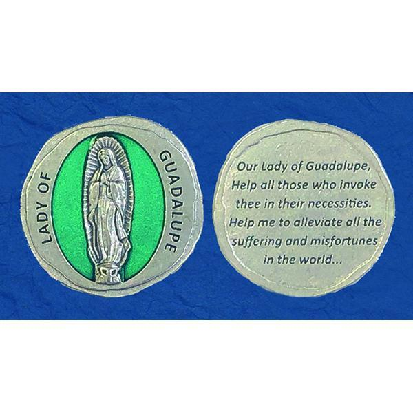 Forged in Stone Enamel Token with Lady of Guadalupe