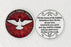 Red Enameled Come Holy Spirit Token with Prayer Silver Plated
