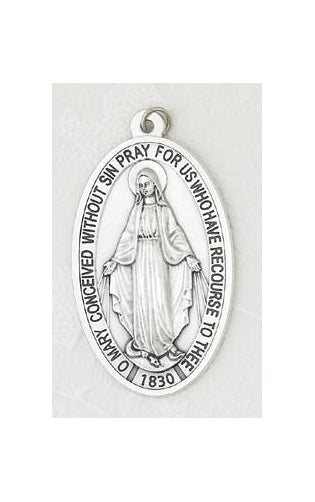 3-1/2-inch Miraculous Medal - Oxidized Metal