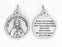 3/4 inch Silver Plated St Therese of Lisieux Pendant with Prayer on back